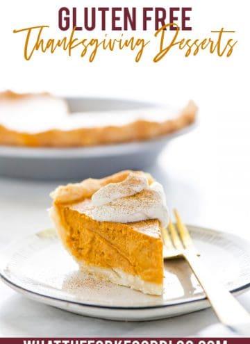 Gluten Free Pumpkin Pie, one of many Gluten Free Thanksgiving Desserts