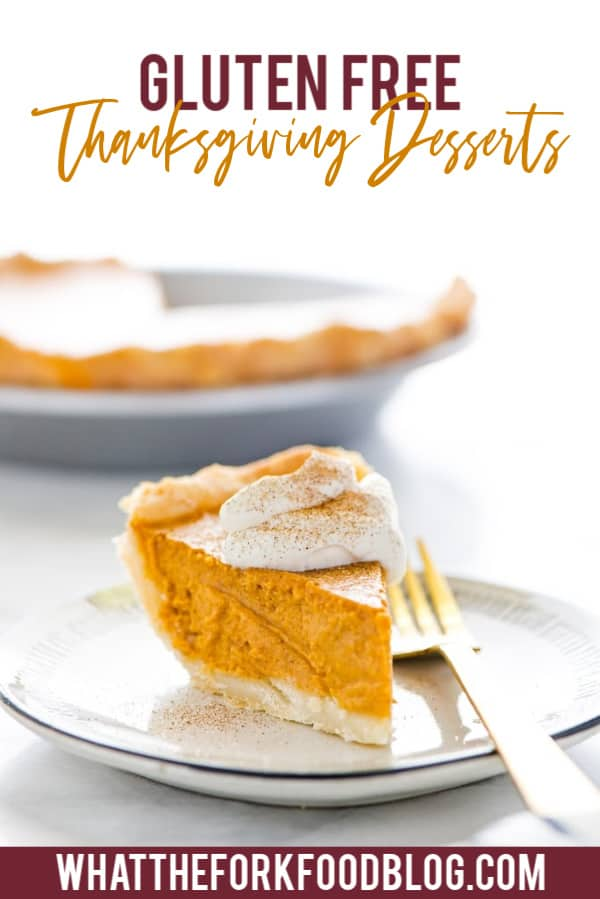 Gluten Free Pumpkin Pie, one of many Gluten Free Thanksgiving Desserts