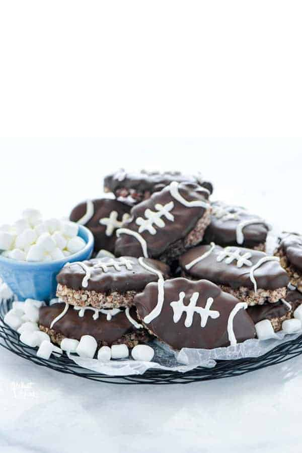 How to Make Football Rice Krispie Treats