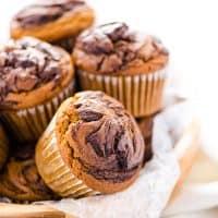 Gluten Free Pumpkin Muffins with Nutella Swirl