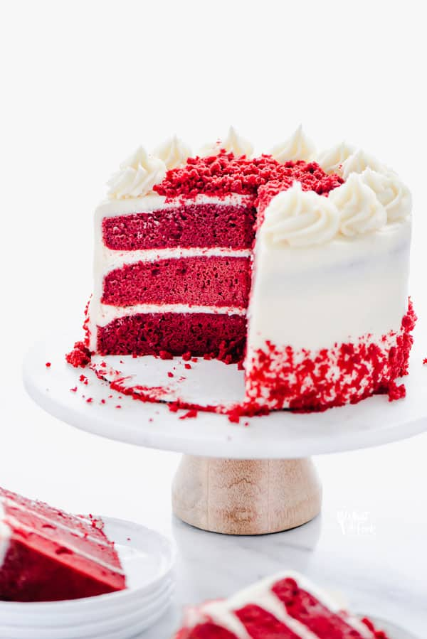 Gluten Free Red Velvet Cake sliced