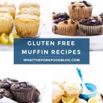 If you're looking for the best gluten free muffins, you've found them! There are 20+ recipes to choose from and there's something for everyone. Classics like gluten free blueberry muffins, gluten free banana muffins, apple muffins, corn muffins, and more. All of the recipes can be made dairy free and there are a few gluten free vegan muffins and some grain free muffins too! Easy gluten free muffins from @whattheforkblog - visit whattheforkfoodblog.com for more gluten free breakfast recipes.