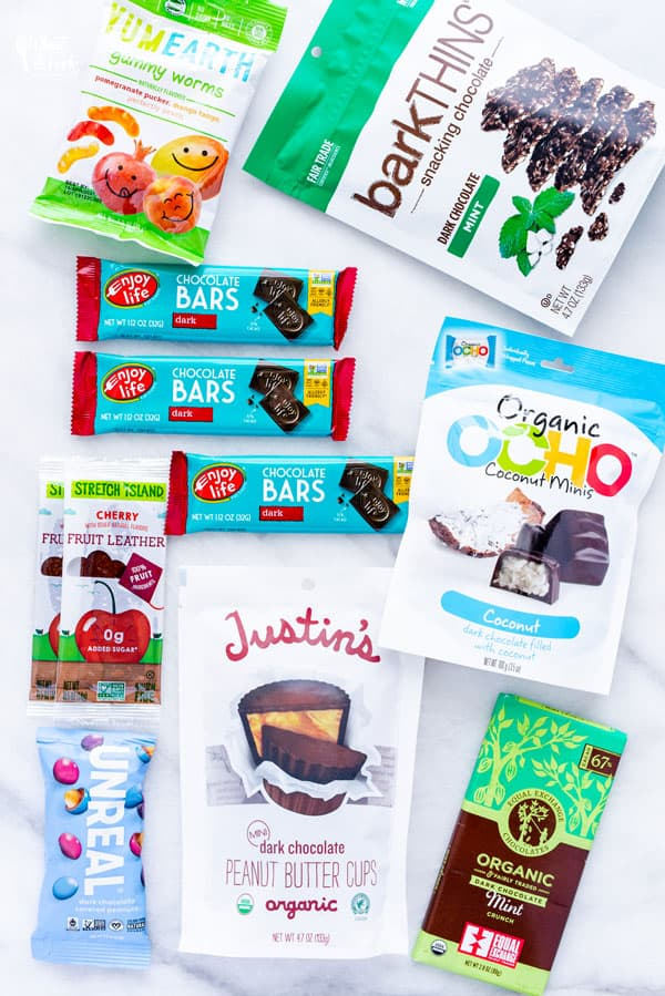Store-bought Gluten Free sweets, chocolate, and candy for your Emergency Food List