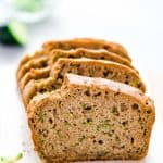 This is the classic Gluten Free Zucchini Bread recipe you've been searching for! It's a moist loaf that rises beautifully and has the perfect flavor and texture. This gluten free quick bread is easy to make with simple instructions. This loaf of zucchini bread will not disappoint and it's the perfect use if you've got extra zucchini to use up. Gluten Free bread recipe from @whattheforkfoodblog.com - visit whattheforkfoodblog.com for more gluten free baking recipes.