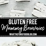 gluten free brownies collage pin with text for Pinterest