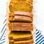 Gluten Free Pumpkin Spice Bread with Sourdough Discard long image with text for Pinterest