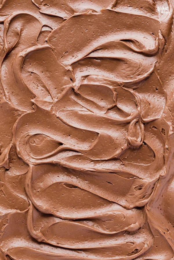 close up shot of Chocolate Cream Cheese Frosting