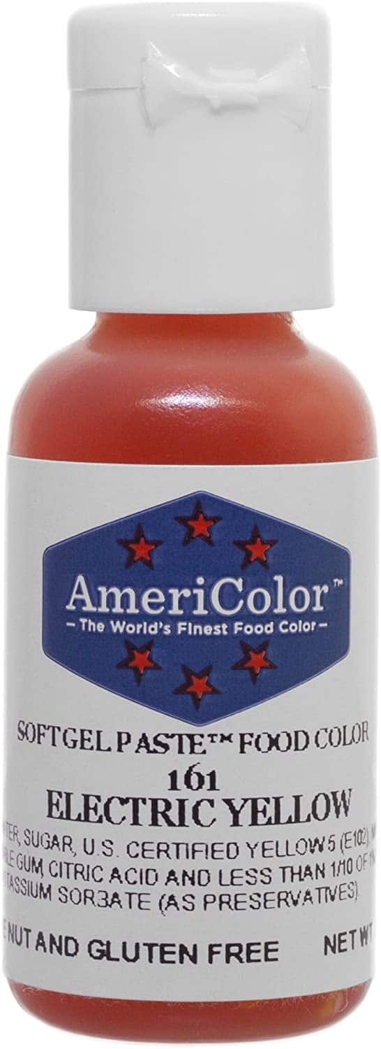 AmeriColor Electric Yellow Soft Gel Paste Food Color