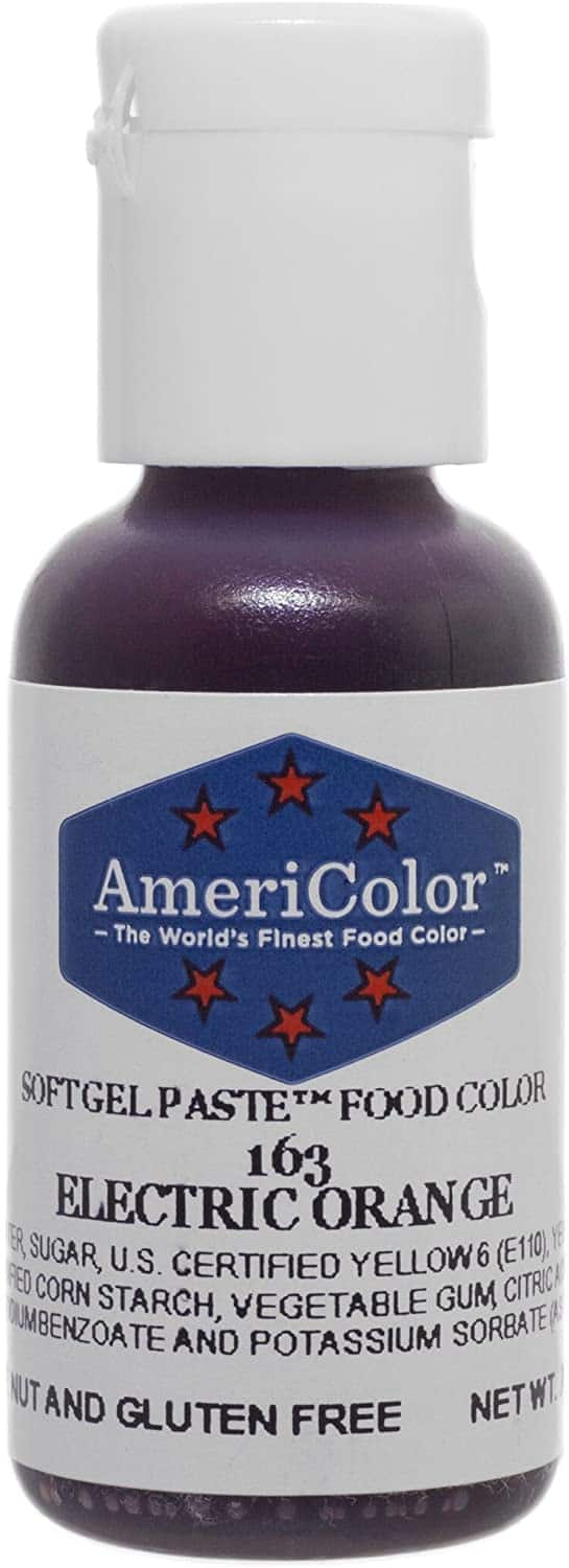 AmeriColor Electric Orange Soft Gel Paste Food Color