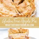 gluten free apple pie collage image with text for Pinterest