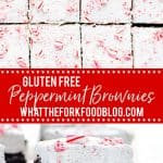 gluten free peppermint brownies collage image with text for Pinterest