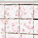gluten free peppermint brownies long image with text for Pinterest
