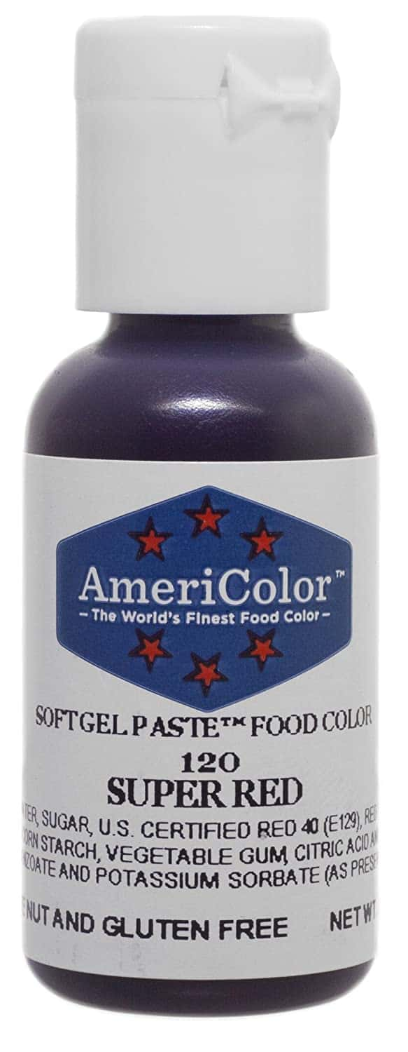 AmeriColor Super Red Soft Gel Paste Food Coloring