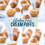 Gluten Free Cream Puff Recipe collage image with text for Pinterest