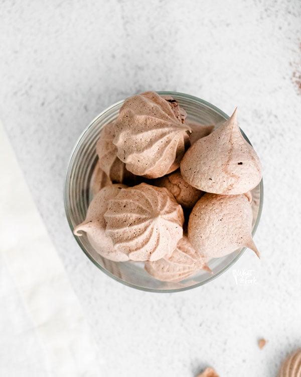 Dark Chocolate Meringue Cookies