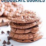 Flourless Chocolate Cookies image with text for Pinterest