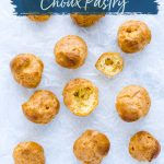Gluten Free Choux Pastry (Pâte à Choux Recipe) image with text for Pinterest