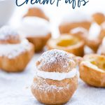 Gluten Free Cream Puff Recipe image with text for Pinterest
