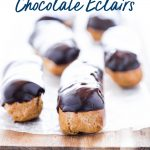 Classic Gluten Free Chocolate Eclair image with text for Pinterest
