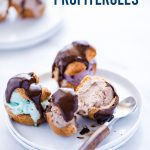 Gluten Free Profiteroles image with text for Pinterest