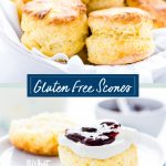 Gluten Free Scones collage image with text for Pinterest