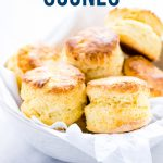 Gluten Free Scones image with text for Pinterest