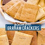 Gluten Free Graham Crackers collage image with text for Pinterest