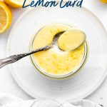Easy Lemon Curd Recipe image with text for Pinterest