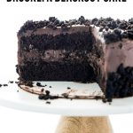 Gluten Free Brooklyn Blackout Cake image with text for Pinterest