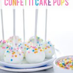 Gluten Free Confetti Cake Pop Recipe image with text for Pinterest