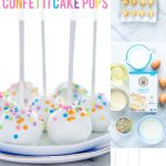 Gluten Free Confetti Cake Pop Recipe collage image with text for Pinterest