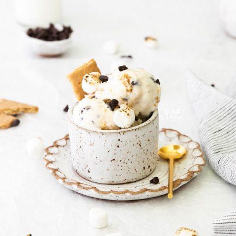 No-Churn S'mores Ice Cream (Gluten Free)