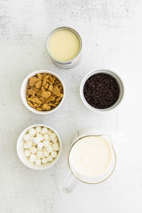 Ingredients for No Churn S'mores Ice Cream