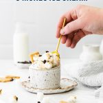 No Churn S'mores Ice Cream image with text for Pinterest