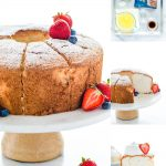 Simple Gluten Free Angel Food Cake Recipe collage image with text for Pinterest