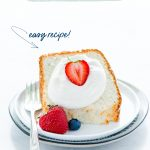 Simple Gluten Free Angel Food Cake Recipe image with text for Pinterest