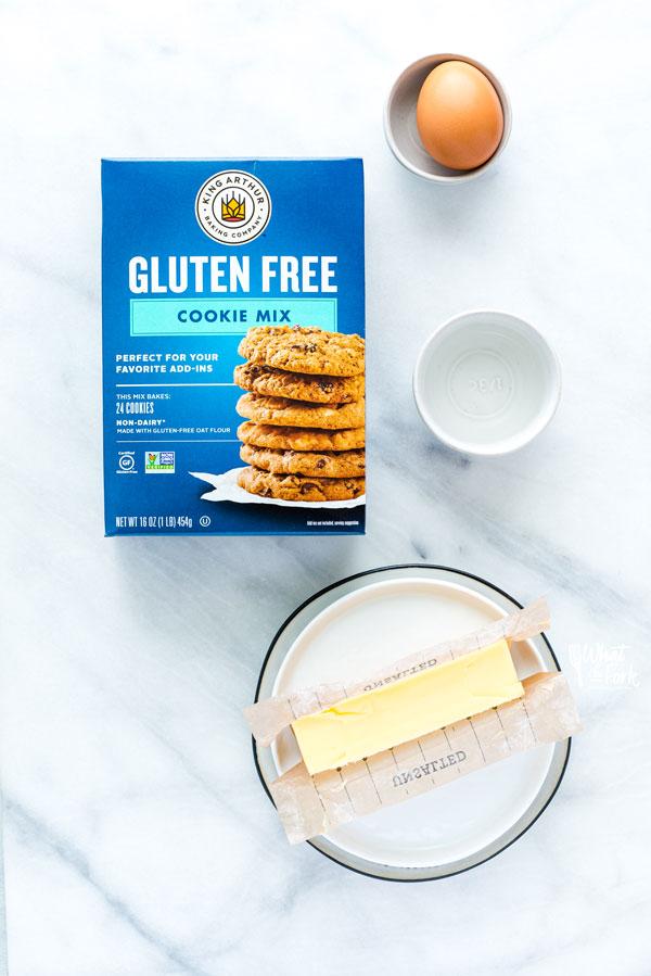 ingredients for Gluten Free Brown Sugar Cookies