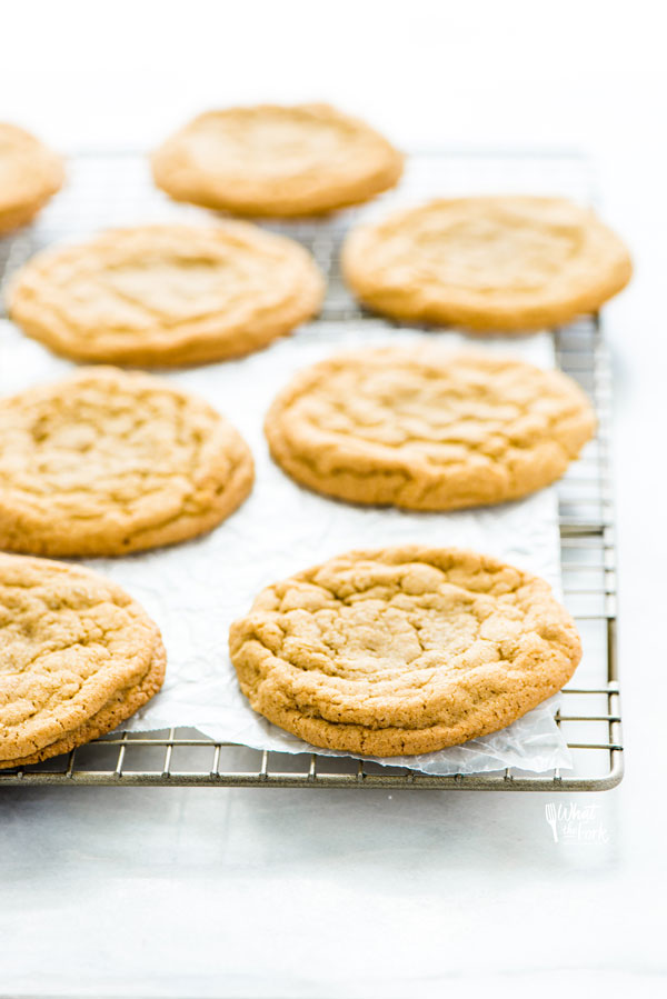 Gluten Free Brown Sugar Cookies on a wire rack