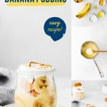 Banana Pudding Recipe collage image with text for Pinterest
