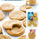 Gluten Free Brown Sugar Cookies collage image with text for Pinterest