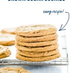 Gluten Free Brown Sugar Cookies image with text for Pinterest
