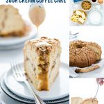 Gluten Free Sour Cream Coffee Cake Recipe collage image with text for Pinterest