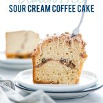 Gluten Free Sour Cream Coffee Cake Recipe image with text for Pinterest