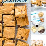 gluten free blondies collage image with text for Pinterest
