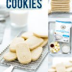 Gluten Free Shortbread Cookies collage image with text for Pinterest