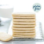 Gluten Free Shortbread Cookies image with text for Pinterest